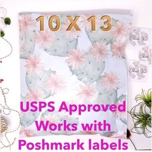 25 10X13 Flower Cactus Poly Mailers PRICE IS FIRM